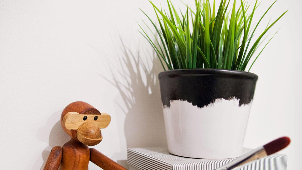 DIY lag din egen vase gjenbruk av ikea blomsterpotte