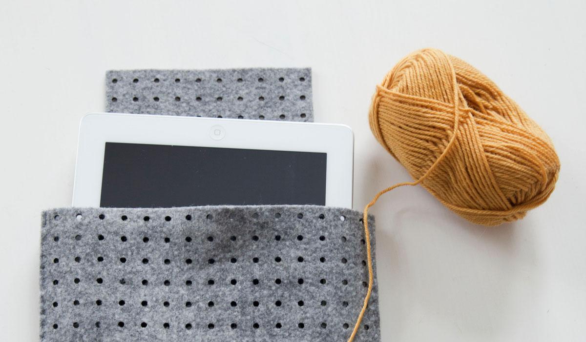DIY ipadcover av filt