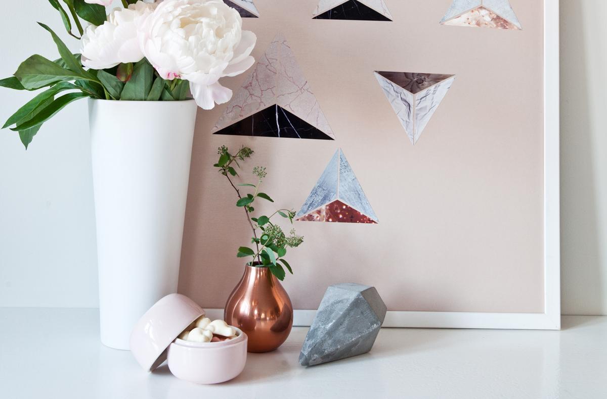 DIY teksturkunst inspirert av Kristina Krogh