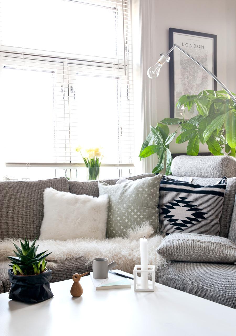 sofakrok med nye puter
