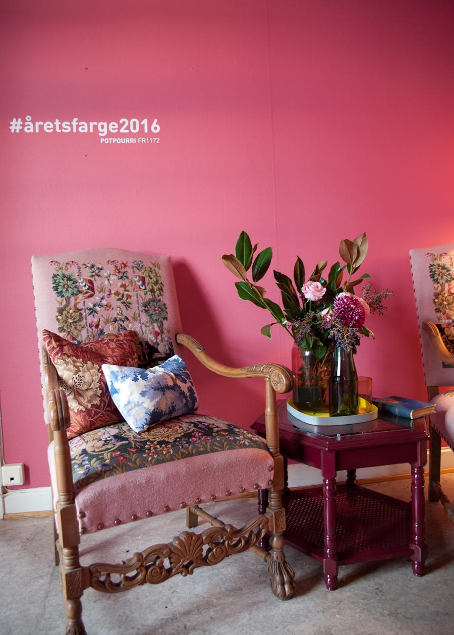 årets farge 2016 fra fargerike er rosa