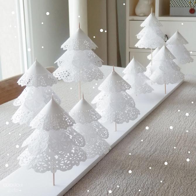diy juletrær laget av kakepapir