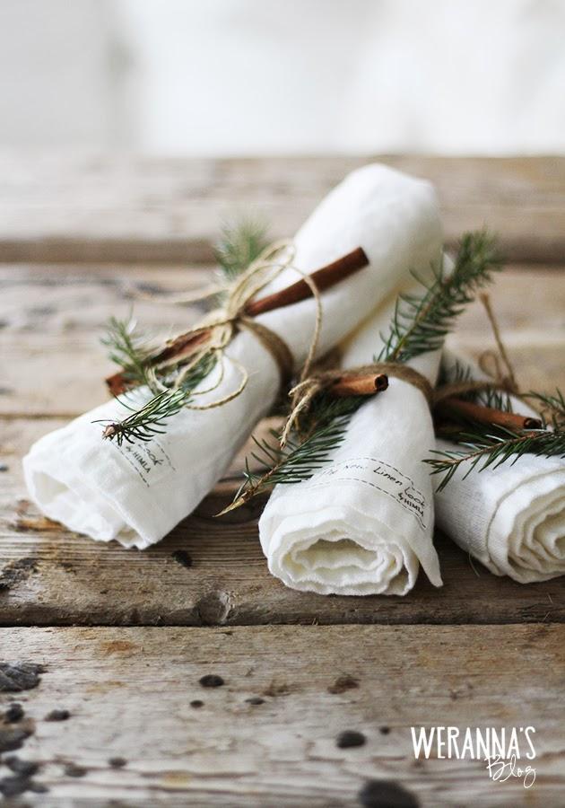 juleservietter med pynt