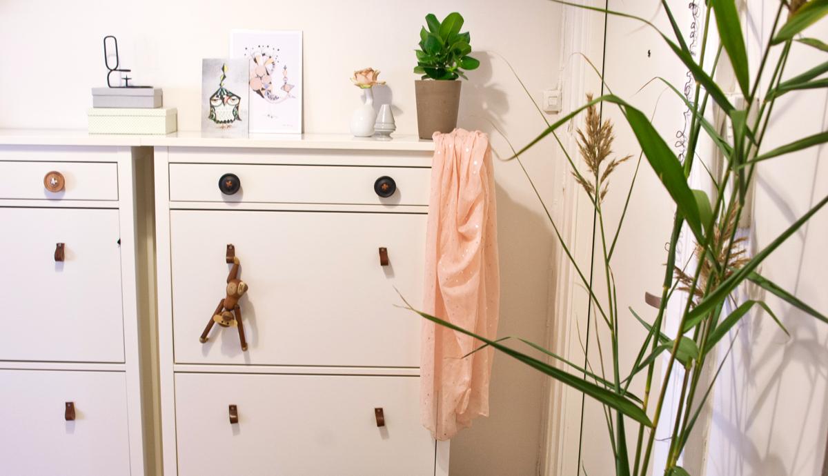 DIY knotter til skoskap av skinn