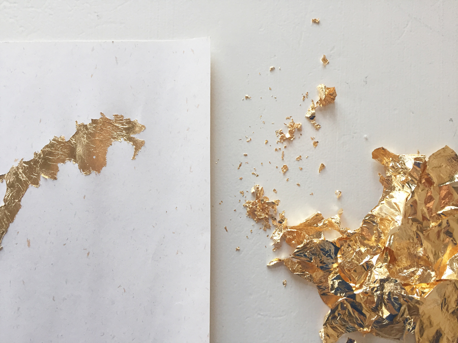 diy norgeskart av bladgull