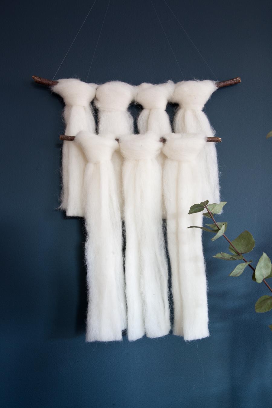 diy veggteppe av ull