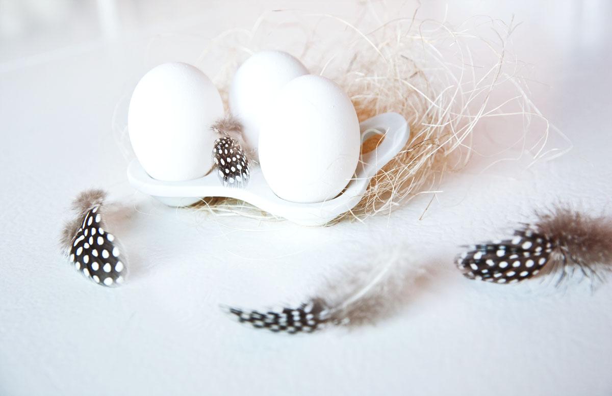 hvite egg uten stempel
