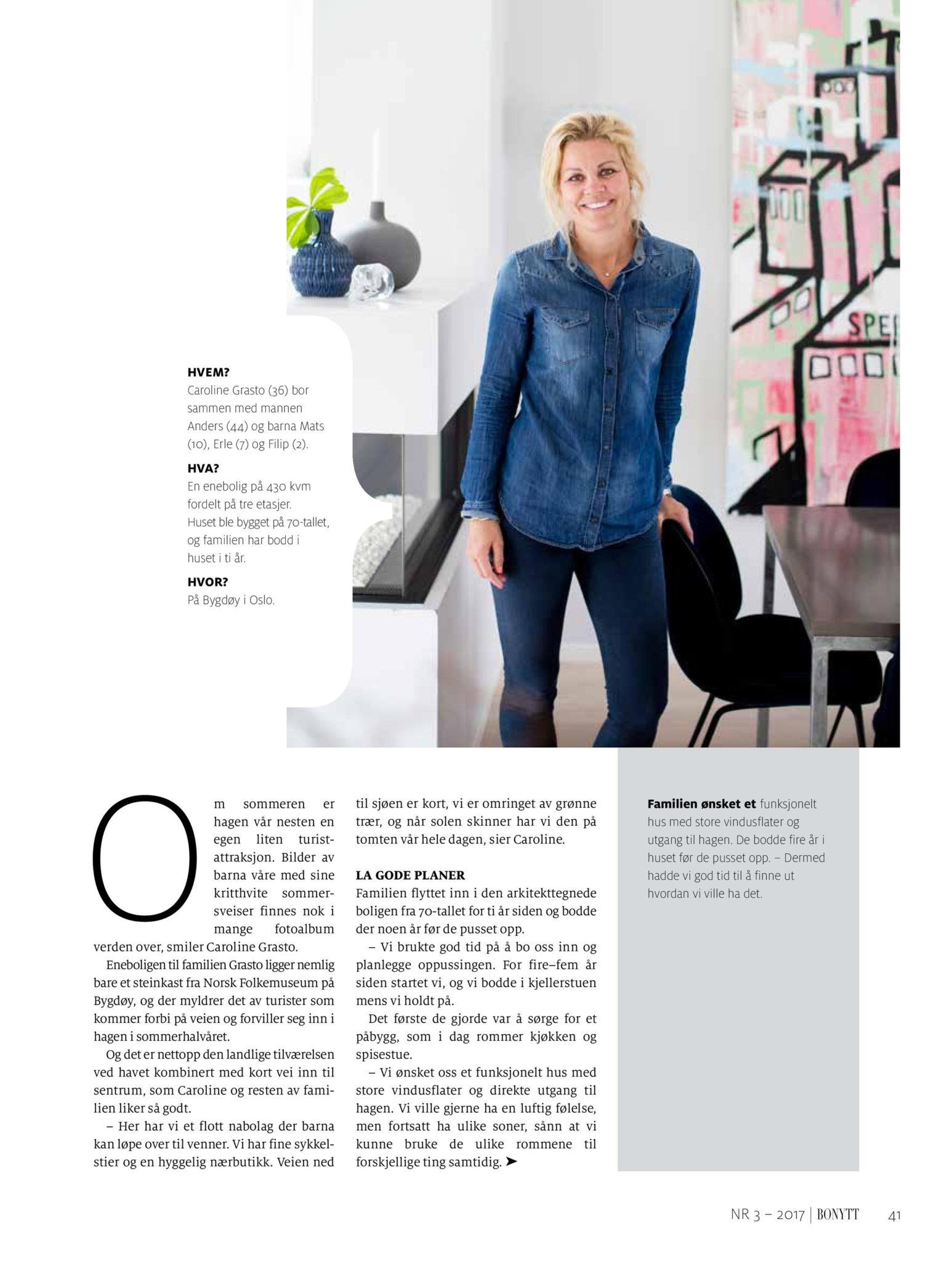 Bonytt 2017 Caroline Grasto Bygdøy boligreportasje