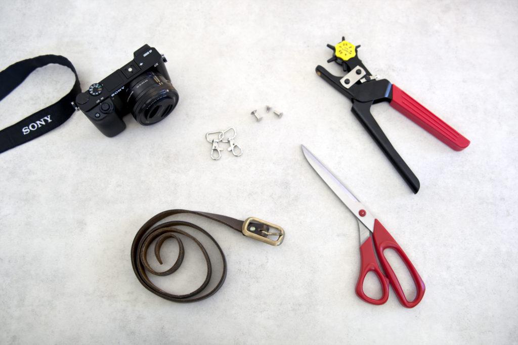 DIY kamerastropp laget av gammelt belte utstyr
