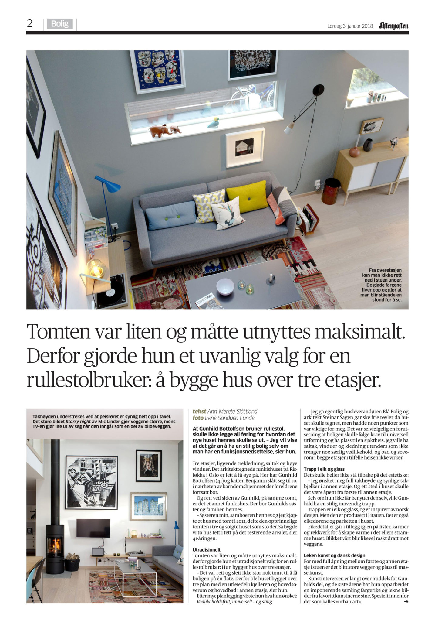 Gunhild Bottolfsen funkishus Aftenposten