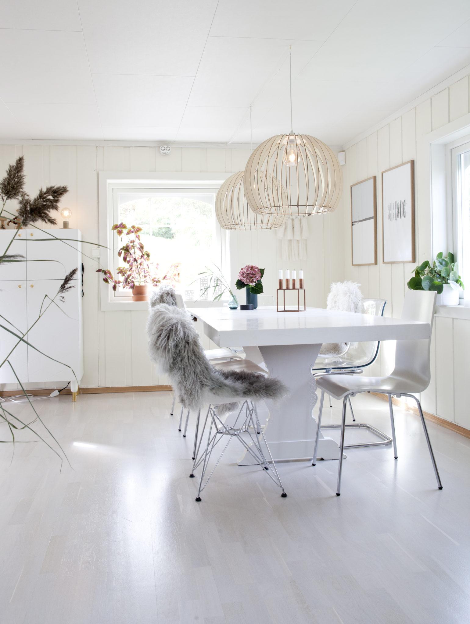 Lampe over spisebord