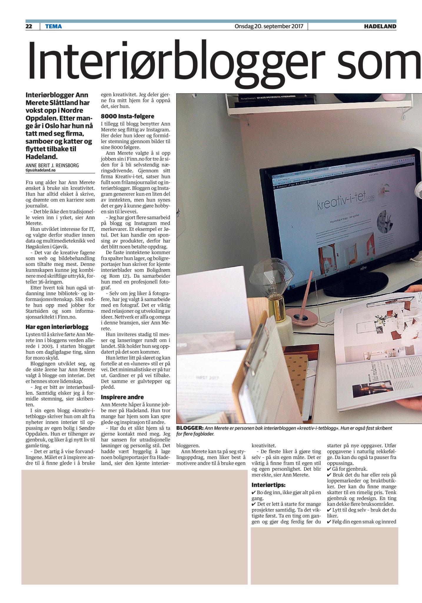 avisen hadeland september 2017 ann merete