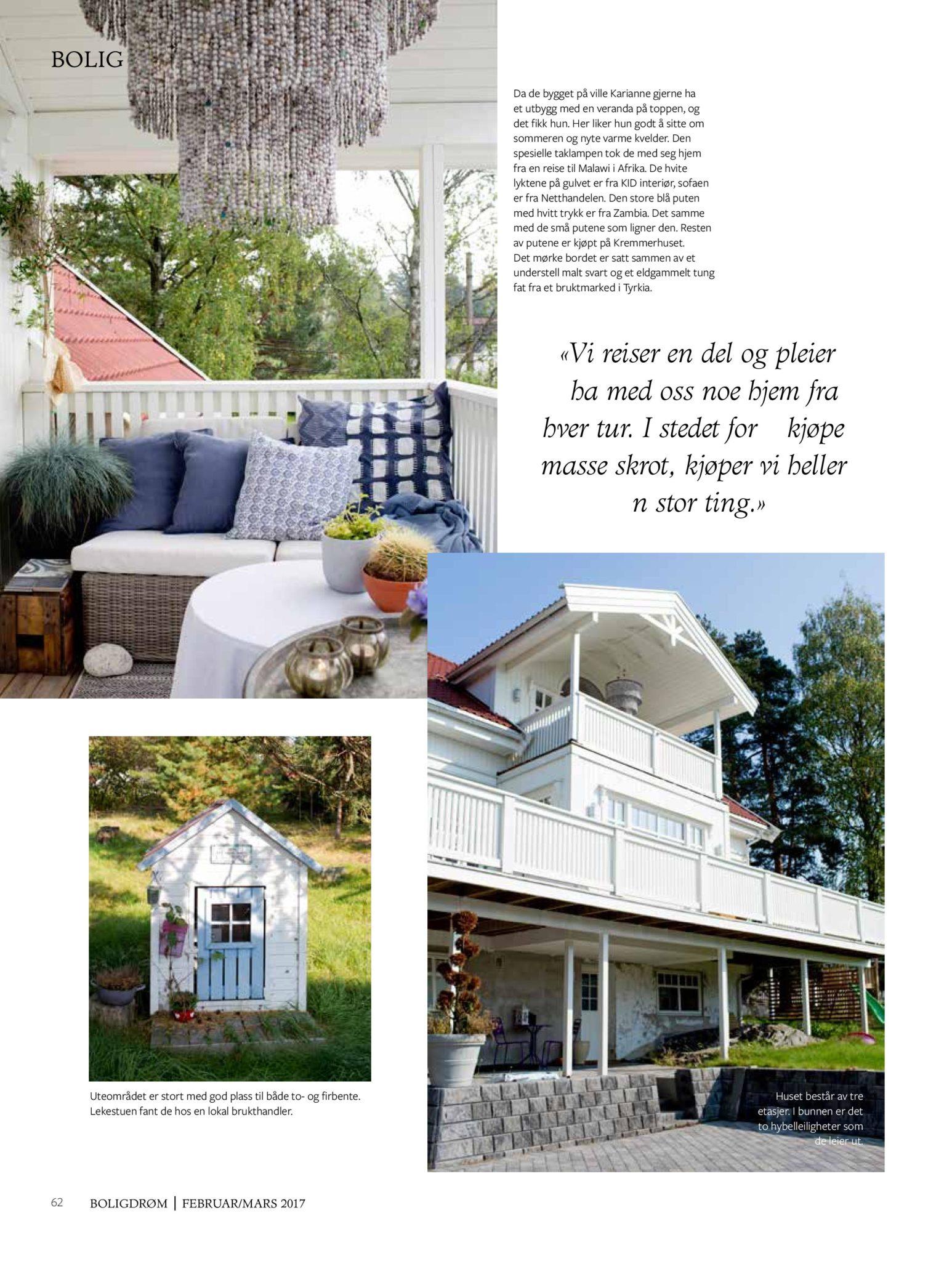 boligreportasje Karianne Gustavsen BoligDrøm nr. 2/2017 side 15