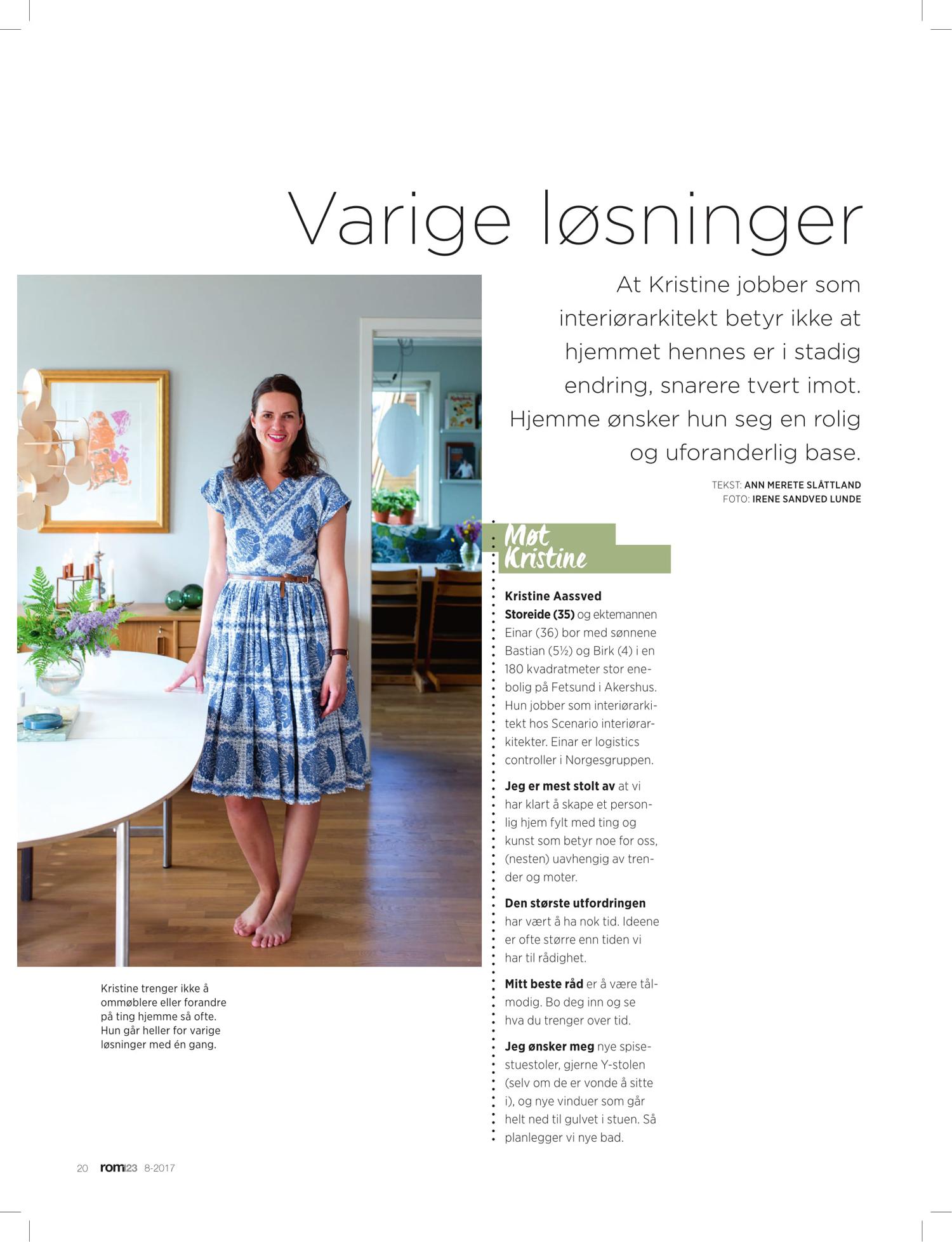 boligreportasje rom123 nr 0817 Kristine Storeide Foto Irene Sandved Lunde
