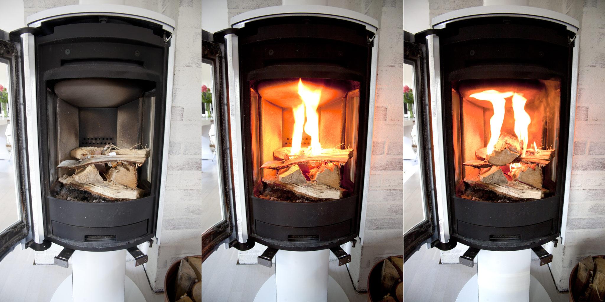 jøtul ovn f373 hvit opptenning