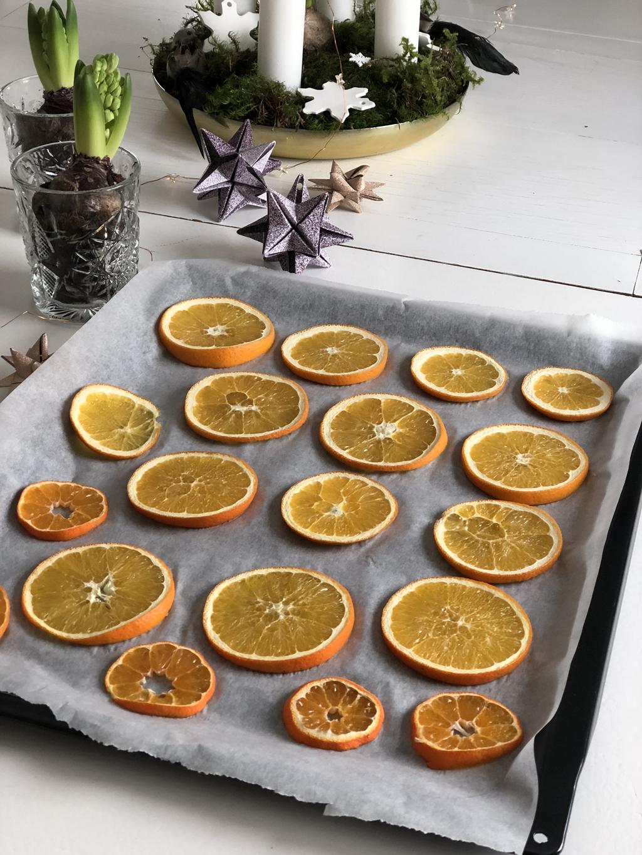 Tørke appelsinskiver