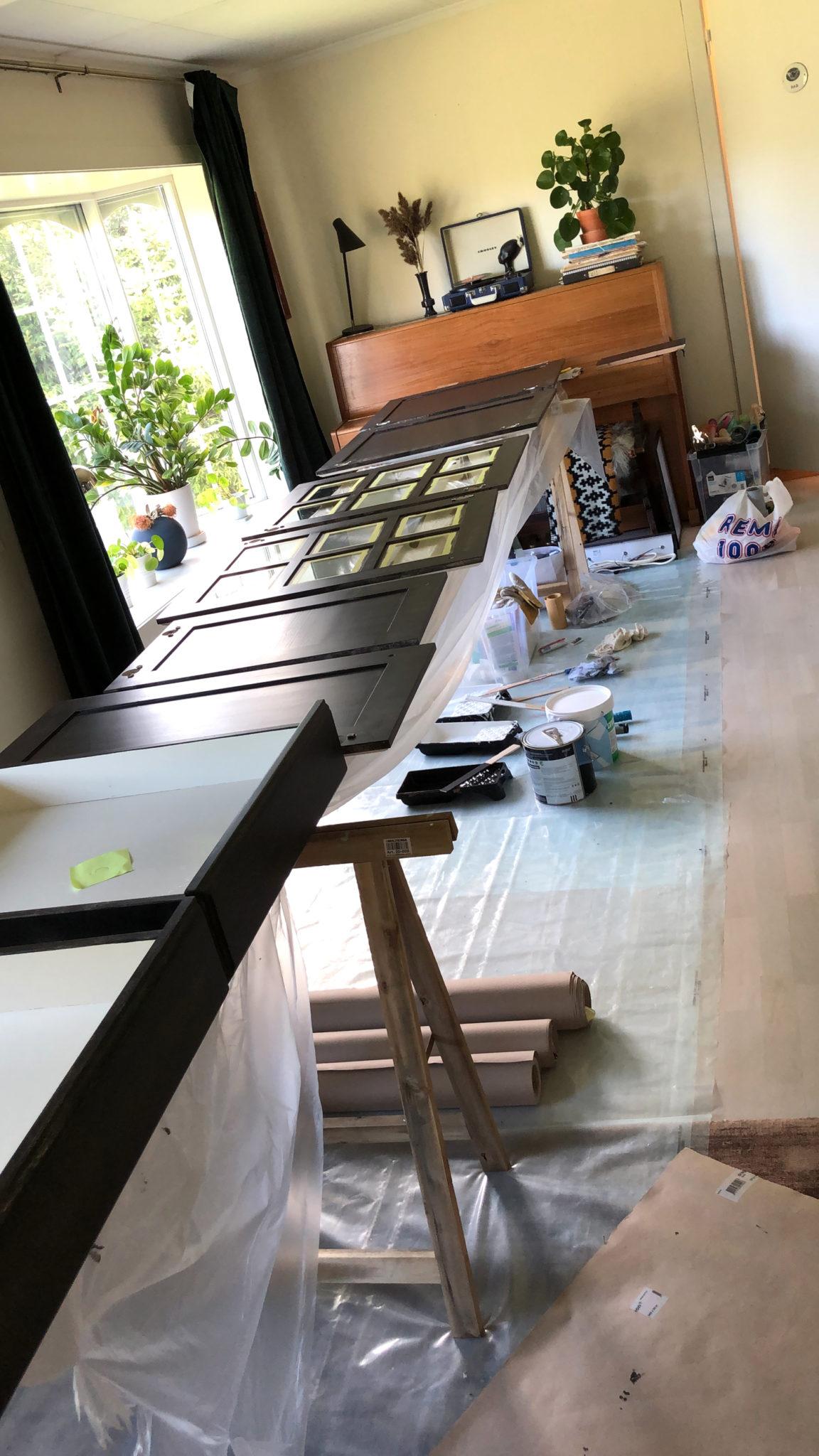 male kjøkkeninnredning