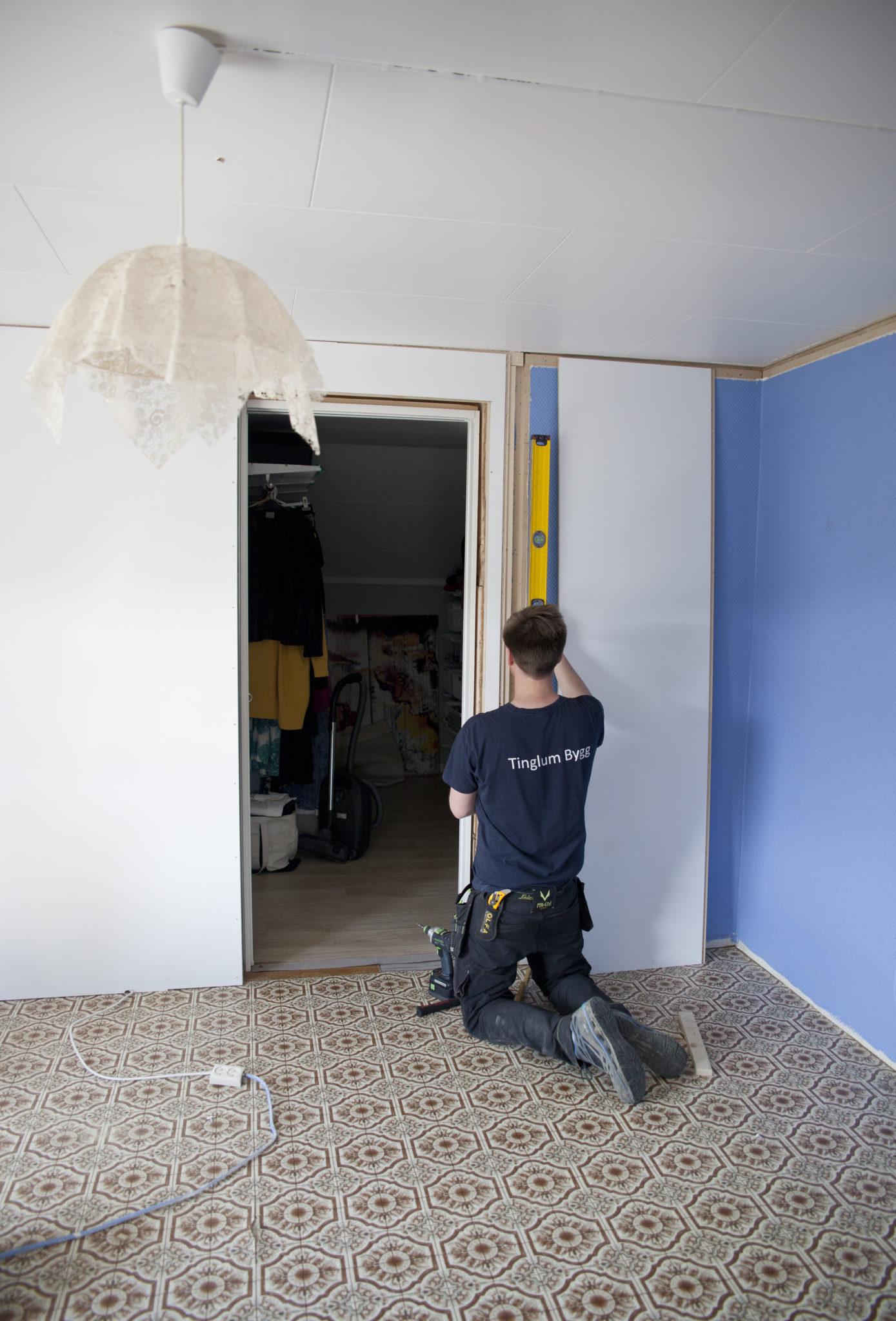 oppussing av kontor med veggplatene walls2paint