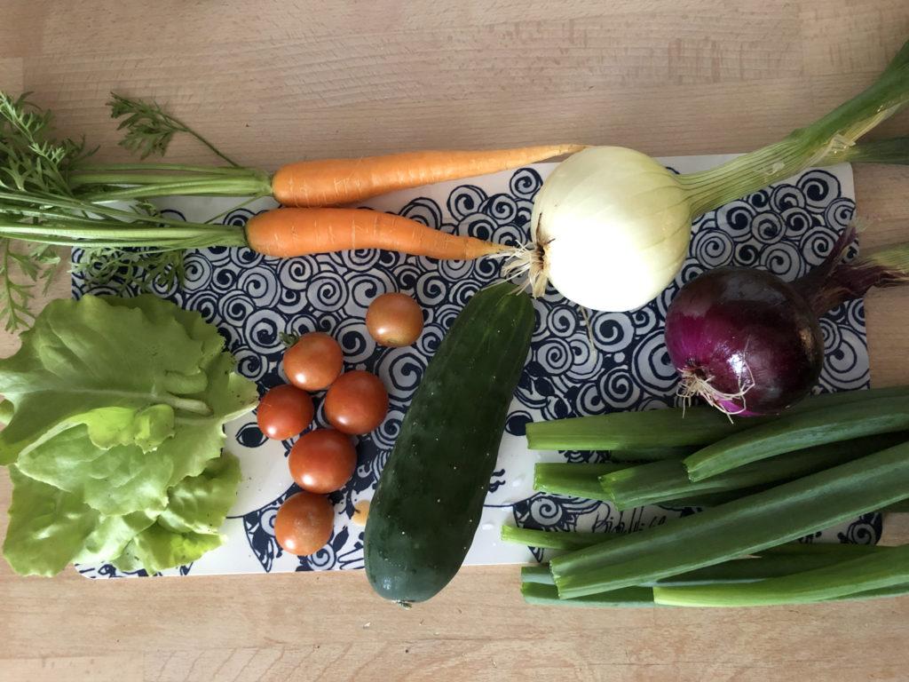 grønnsaker fra pallekarm