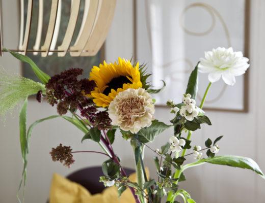 blomsterbukett stue