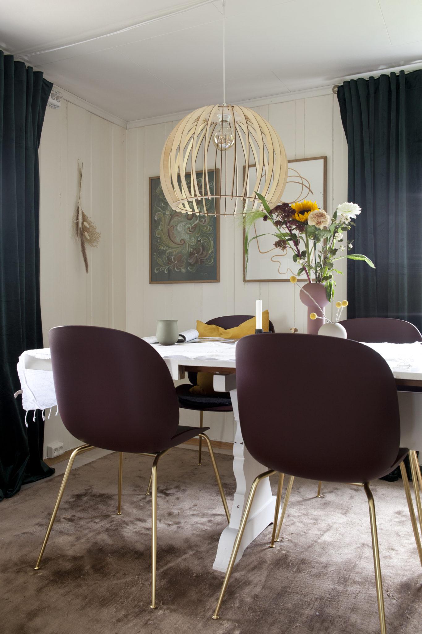 spisebord stue varme farger